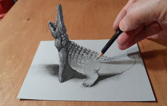 illusion doptique papier 3D