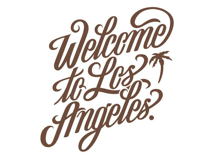 los angeles handlettering