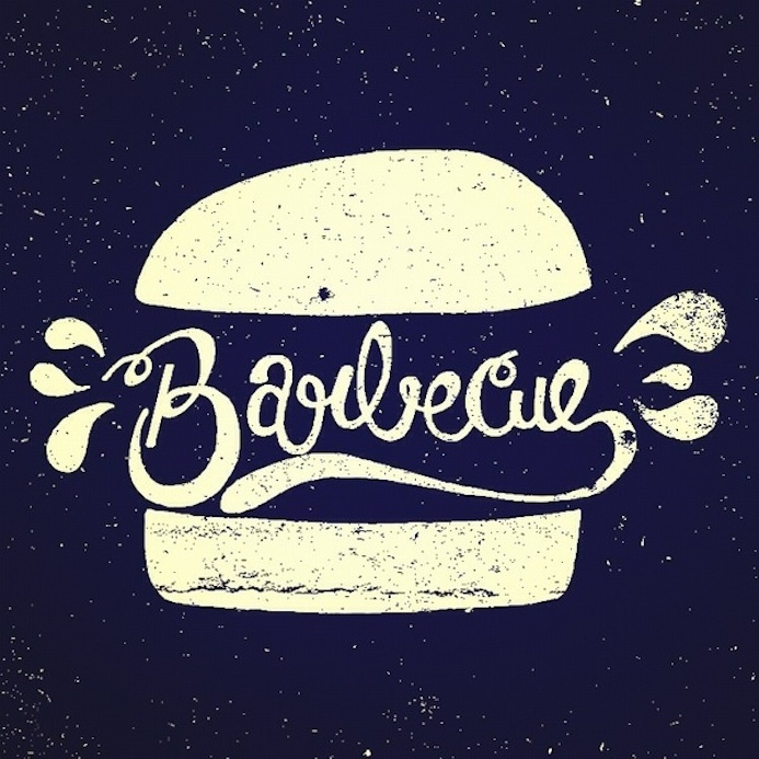 barbecue typography