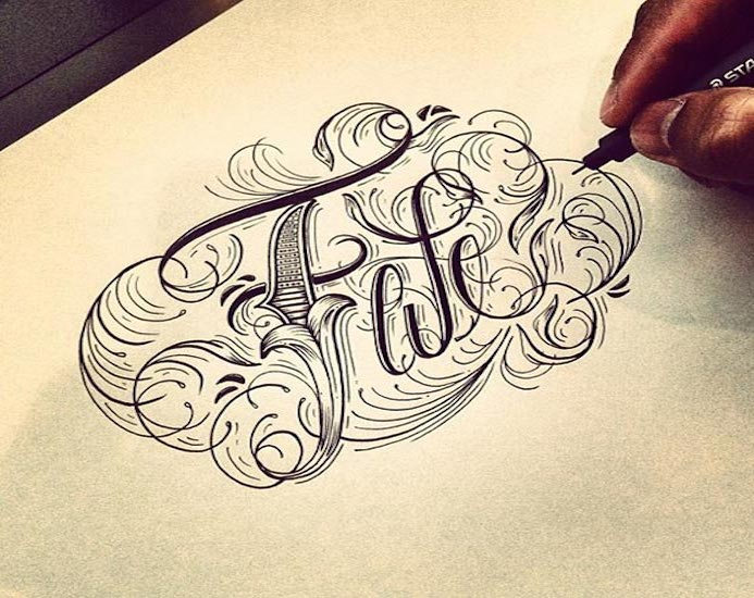 hand lettering typographie