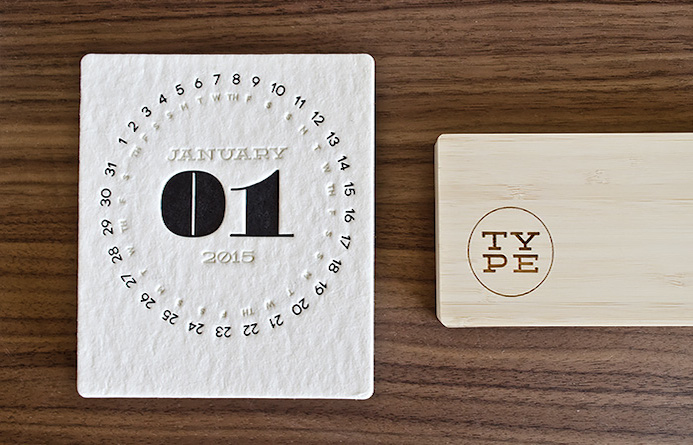 typographie calendrier