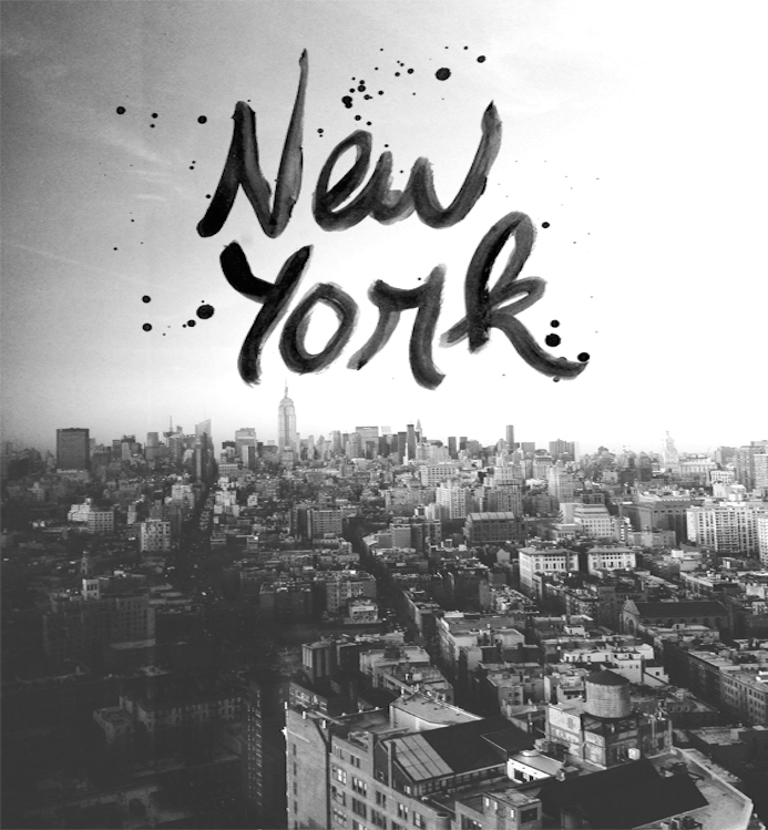 New York City hand lettering