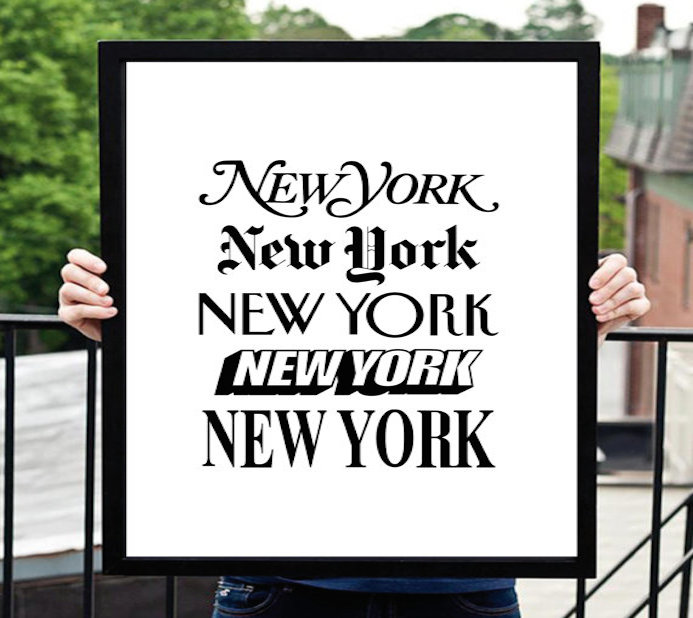 Typographie New York Big Apple