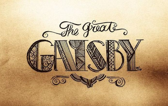 the great gatsby typography