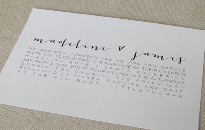 selection typographie mariage