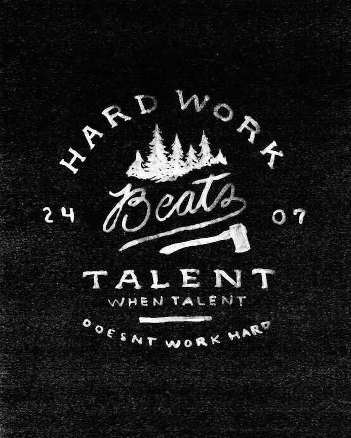 talent work quote handlettering typography