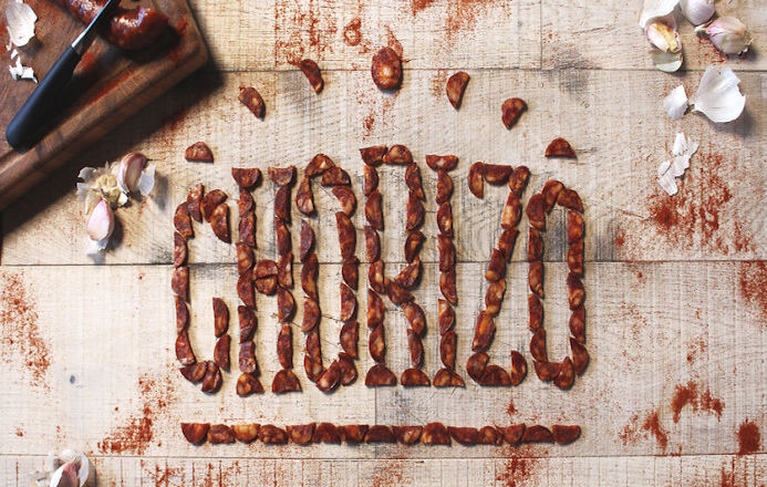 typography with food