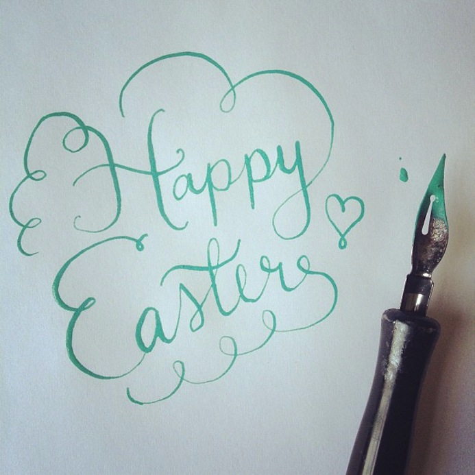Happy esater - le papier - typography 4