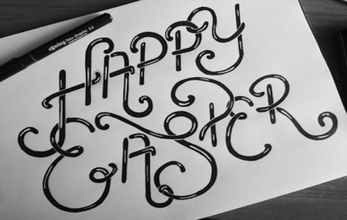 Happy esater - le papier - typography 9