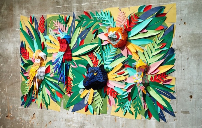 Le Papier aime la Jungle Tropicale en Papier