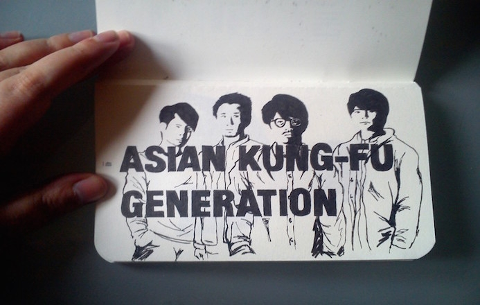 Dessins sur Calepin : Asian Kung Fu Generation